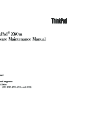 instructions/ibm-lenovo/service-manual-ibm-thinkpad-z60m.pdf